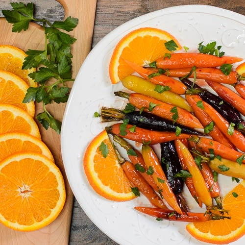 Roasted Baby Carrots with Madeira Orange Glaze | Magnolia Days