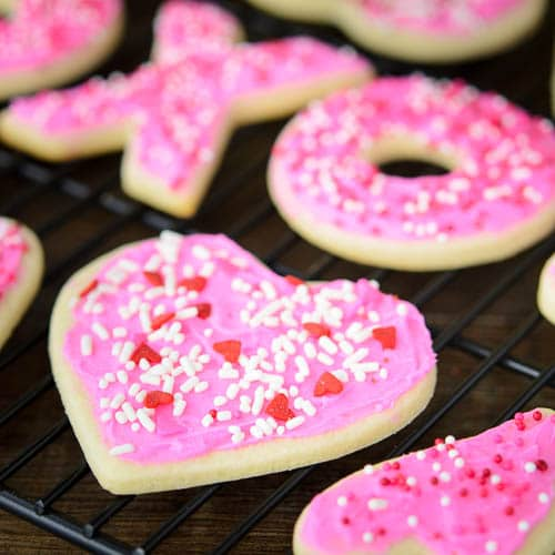Frosted Cream Cheese Cutout Cookies | Magnolia Days