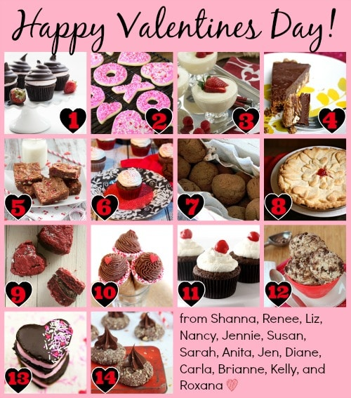 Valentine's Day Collage for Holiday Food Party