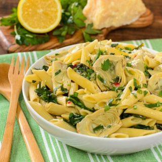 Artichoke Spinach Pasta for #WeekdaySupper