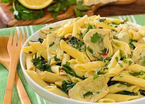 Artichoke Spinach Pasta for #WeekdaySupper