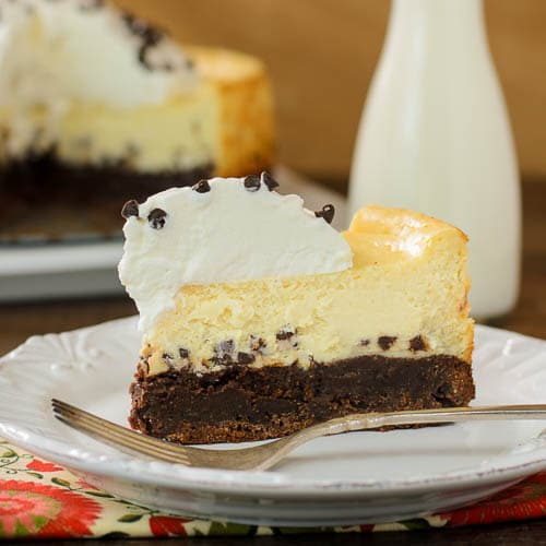 Brownie Chocolate Chip Cheesecake | Magnolia Days