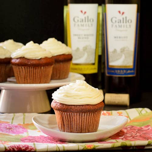 Merlot Cherry Cupcake with Sweet White Frosting | Magnolia Days