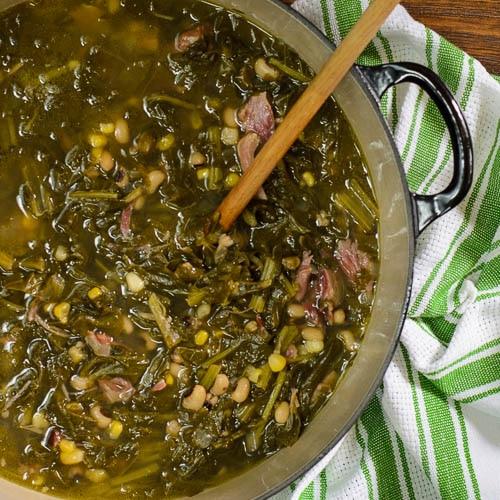 Turnip Green Soup | Magnolia Days
