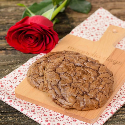 Chocolate Pecan Bourbon Cookies | Magnolia Days