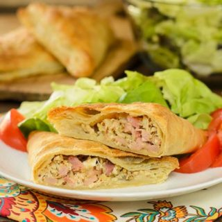 Ham, Turkey, and Cheddar Turnovers for #SundaySupper