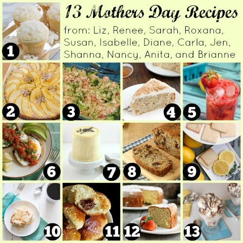 Mother's Day Recipes Collage for Holiday Food Party