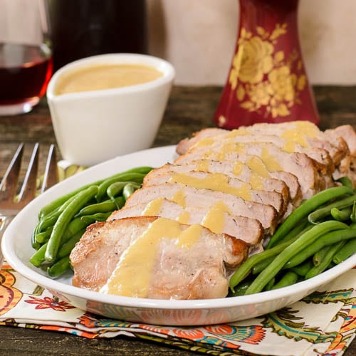 Pork Roast with Peach Moscato Sauce   Magnolia Days