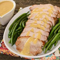 Pork Roast with Peach Moscato Sauce