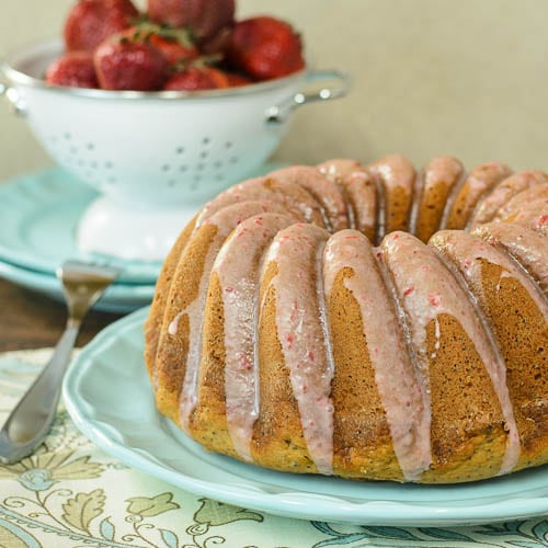 Strawberry Poppy Seed Cake | Magnolia Days