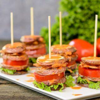 BLT Potato Salad Stacks for #SundaySupper