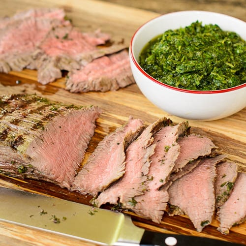 Herb-Marinated Skirt Steaks Recipe — Dishmaps