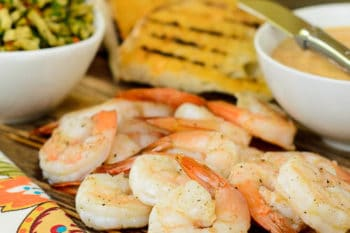 Grilled Bread with Shrimp, Aioli, and Olive Relish   Magnolia Days