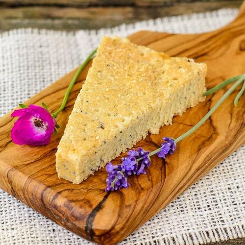 Lavender Poppy Seed Shortbread | Magnolia Days