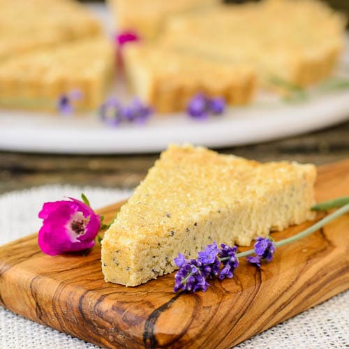 Lavender Poppy Seed Shortbread   Magnolia Days