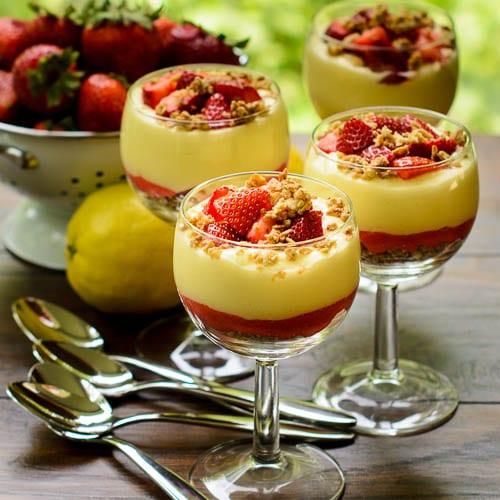 Lemon and Strawberry Parfaits   Magnolia Days