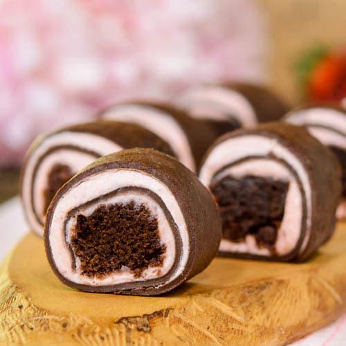 Strawberry Chocolate Brownie Dessert Roll Ups   Magnolia Days