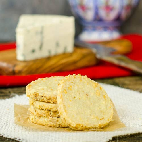 Spicy Blue Cheese Shortbread Cookies Magnolia Days