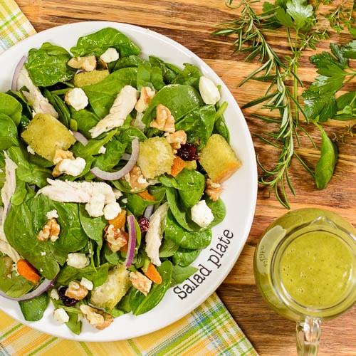 Turkey Spinach Salad with Herb Vinaigrette   Magnolia Days