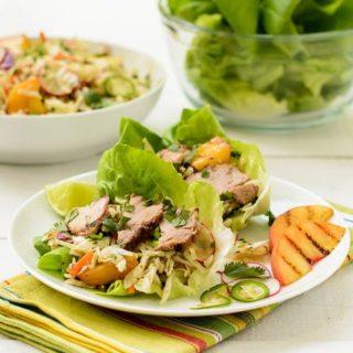 Asian Pork Lettuce Cups for #SundaySupper