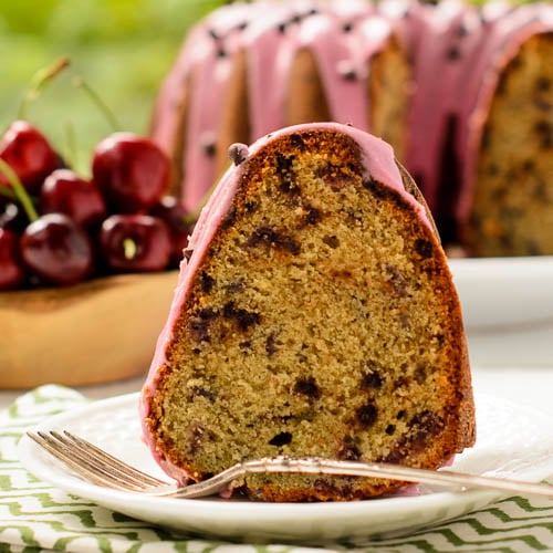 Cherry Chocolate Chip Bundt Cake | Magnolia Days