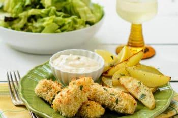 Crispy Fish Sticks with Roasted Potatoes | Magnolia Days