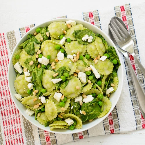 Pasta with Spinach and Green Pea Sauce | Magnolia Days