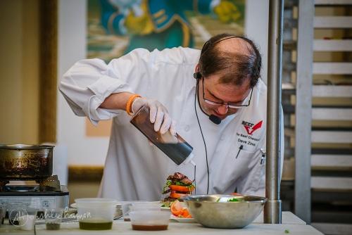 Chef Dave Making Beef Tomato Salad