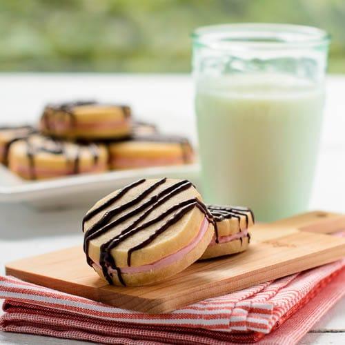 Cherry Viennese Sandwich Cookies | Magnolia Days