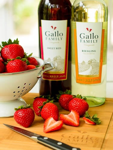 Gallo Wine Riesling and Strawberries | Magnolia Days