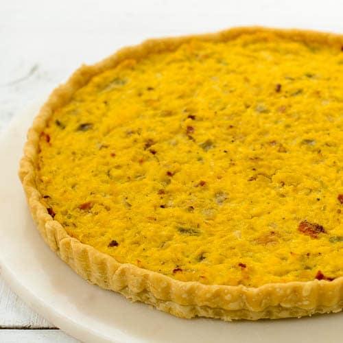 Hatch Chile Corn Quiche | Magnolia Days