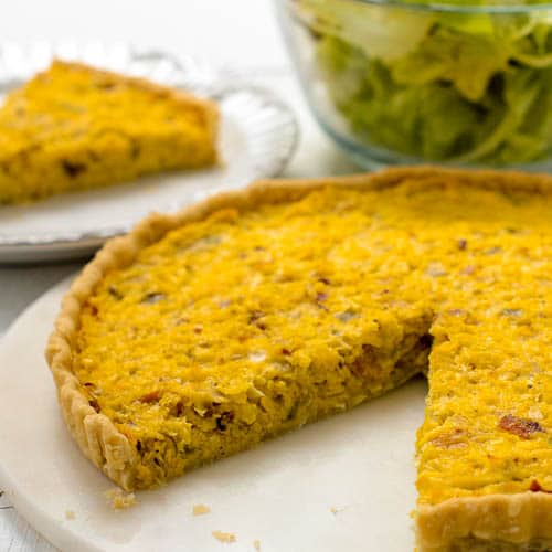 Hatch Chile Corn Quiche | Magnolia Days