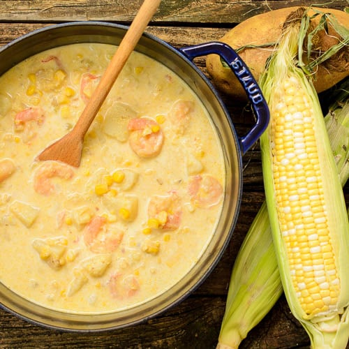 Hatch Chile Shrimp Corn Chowder | Magnolia Days