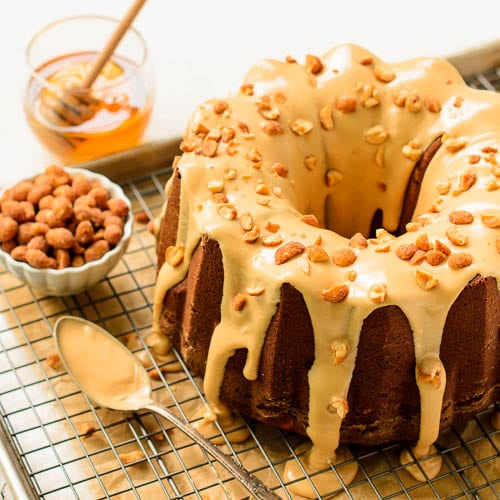 Honey Roasted Peanut Butter Pound Cake | Magnolia Days