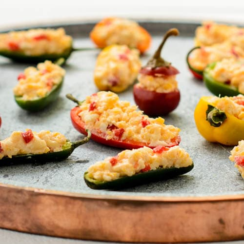 Pimento Cheese Stuffed Peppers for #SundaySupper