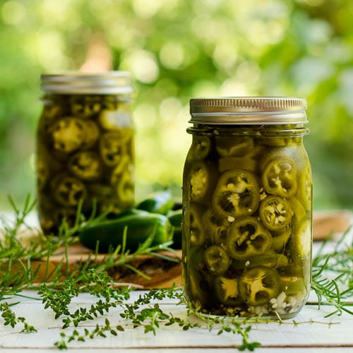 Refrigerator Pickled Jalapeños with Herbs for #SundaySupper