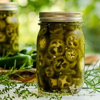 Refrigerator Pickled Jalapeños with Herbs