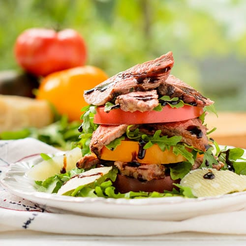 Steak and Heirloom Tomato Salad for #SundaySupper