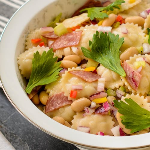 White Bean Salami Pasta Salad | Magnolia Days