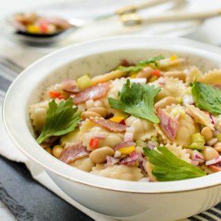 White Bean Salami Pasta Salad