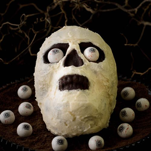 Chocolate Potato Skull Cake | Magnolia Days