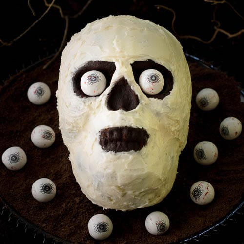 Chocolate Potato Skull Cake | Magnolia Days