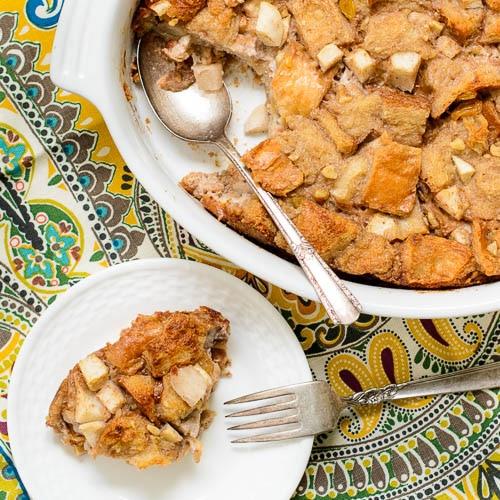 Pear Walnut Bread Pudding | Magnolia Days
