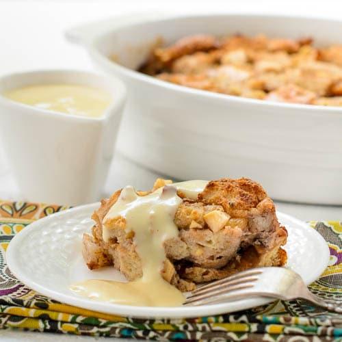 Pear Walnut Bread Pudding for #SundaySupper