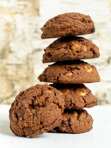 Quadruple Chocolate Shortbread Cookies | Magnolia Days