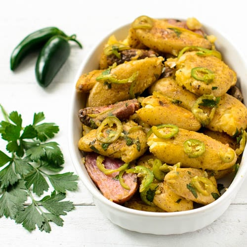 Spicy Smashed Fingerling Potatoes | Magnolia Days