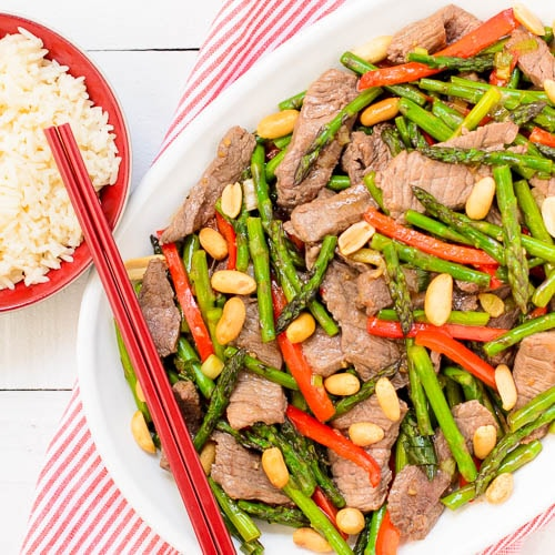 Steak and Asparagus Stir-Fry | Magnolia Days
