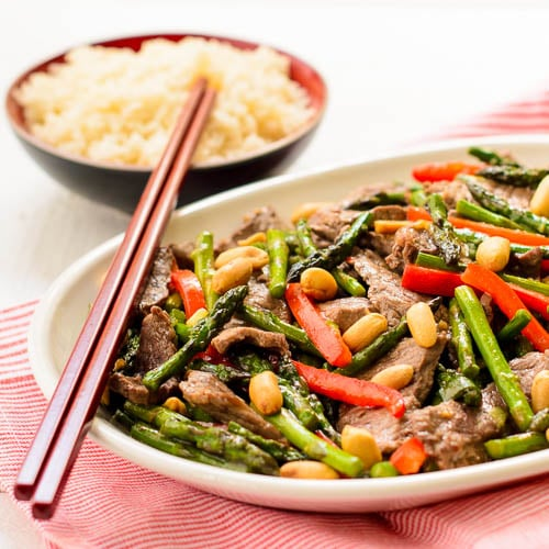Steak and Asparagus Stir-Fry for #WeekdaySupper