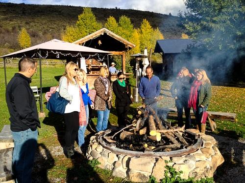 Bonfire at Linn Canyon Ranch | Magnolia Days