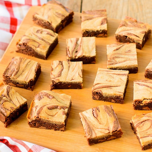 Double Chocolate Tahini Swirl Brownies | Magnolia Days